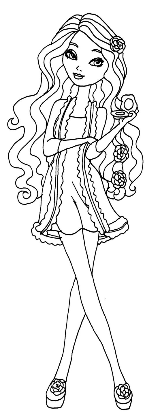 Briar Beauty ever after high para colorear