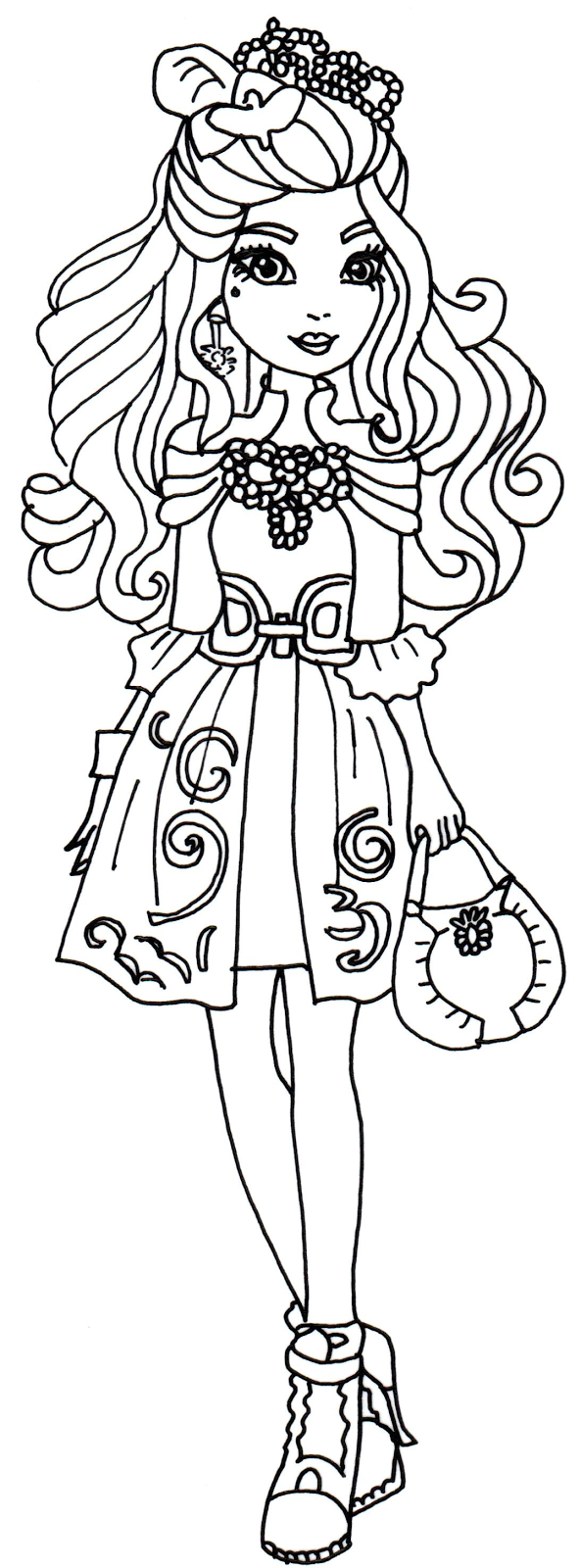 Darling Charming Ever After High para colorear