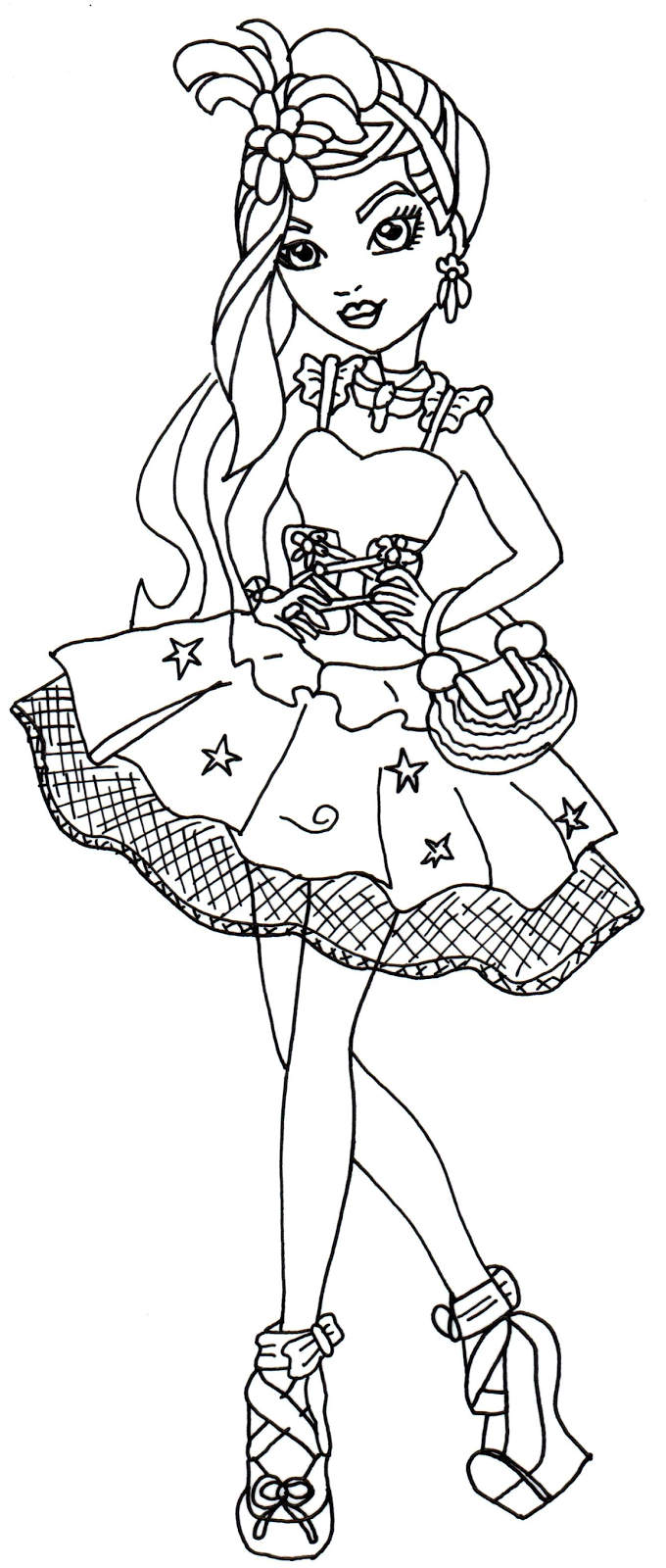 Duquesa Swan Ever After High para colorear