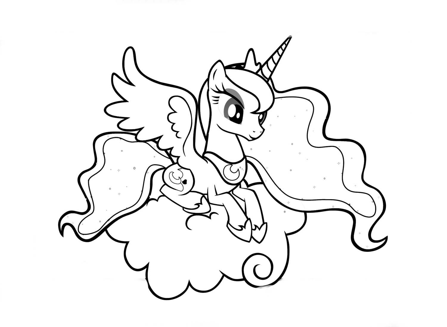 My little pony para colorear online