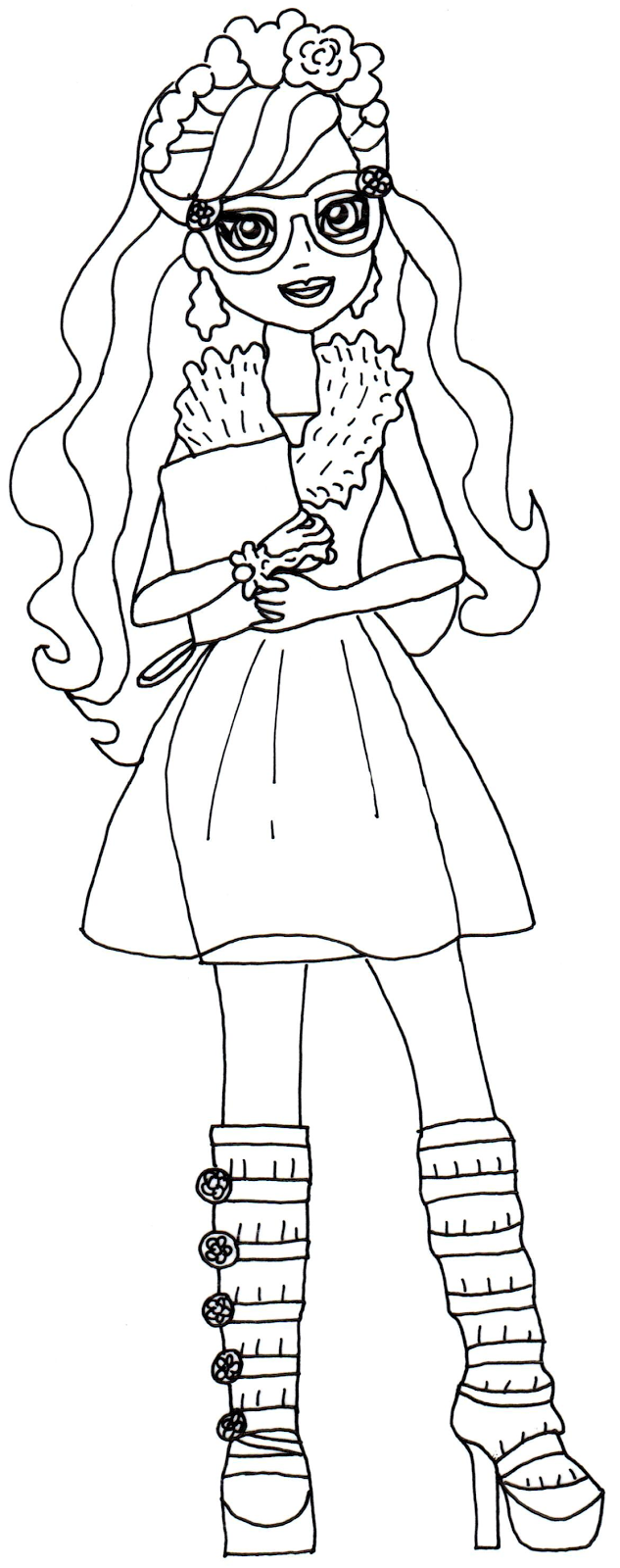 Rosabella Beauty Ever After High para colorear