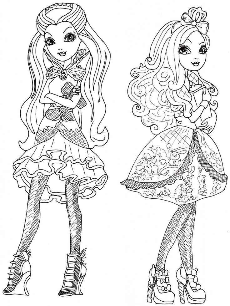 apple white e raven queen para colorear