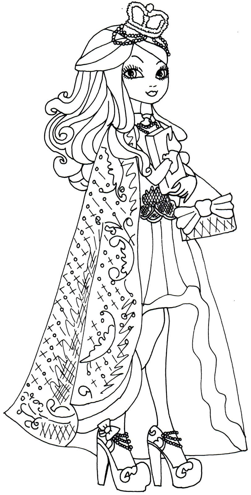apple white ever after high para colorear
