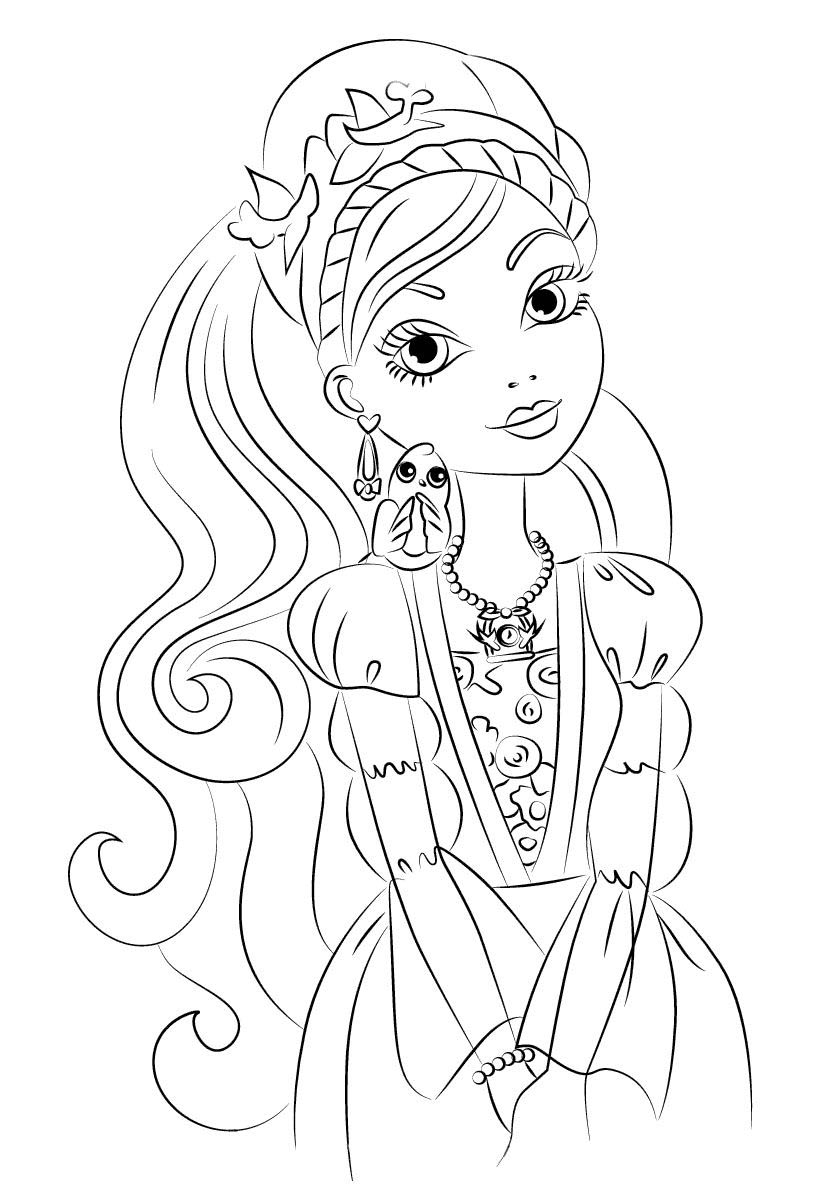 ashlynn ella ever after high para colorear
