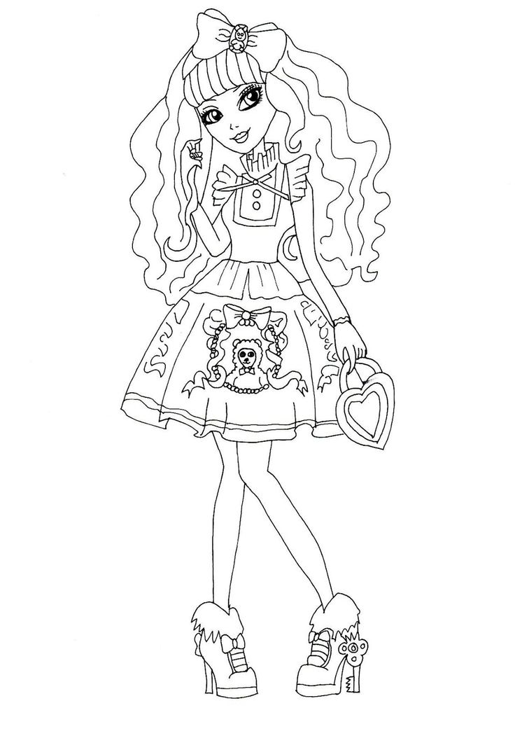 blondie locks ever after high para colorear