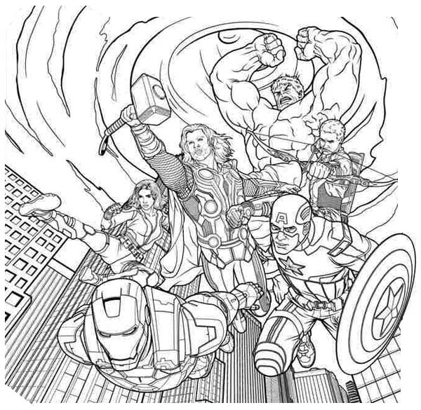 avengers coloring pages a4 - photo#22