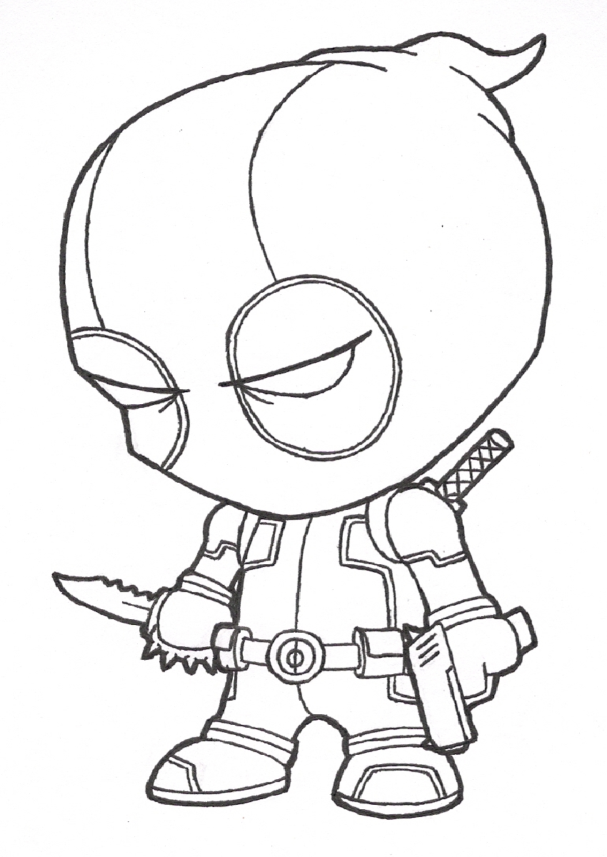 Deadpool Para Colorear Pintar E Imprimir