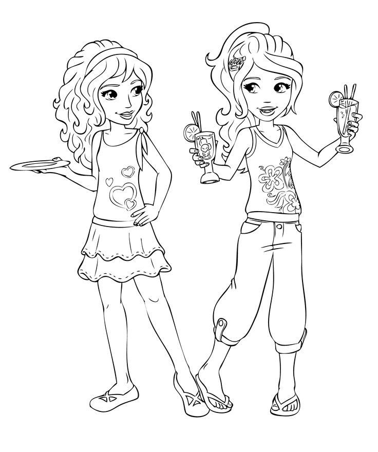 dibujos de amigas para colorear