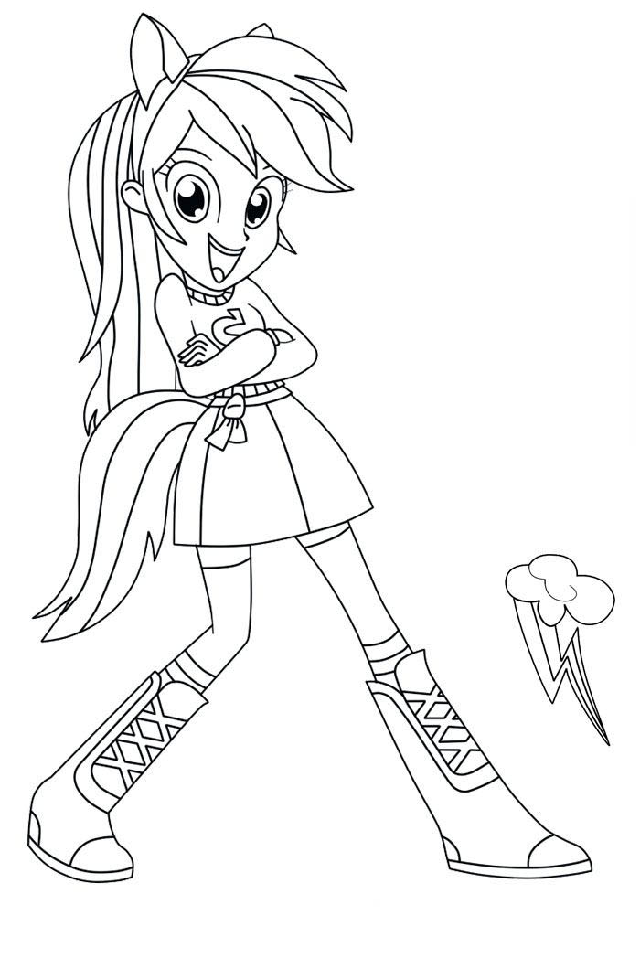 dibujos de equestria girls para colorar