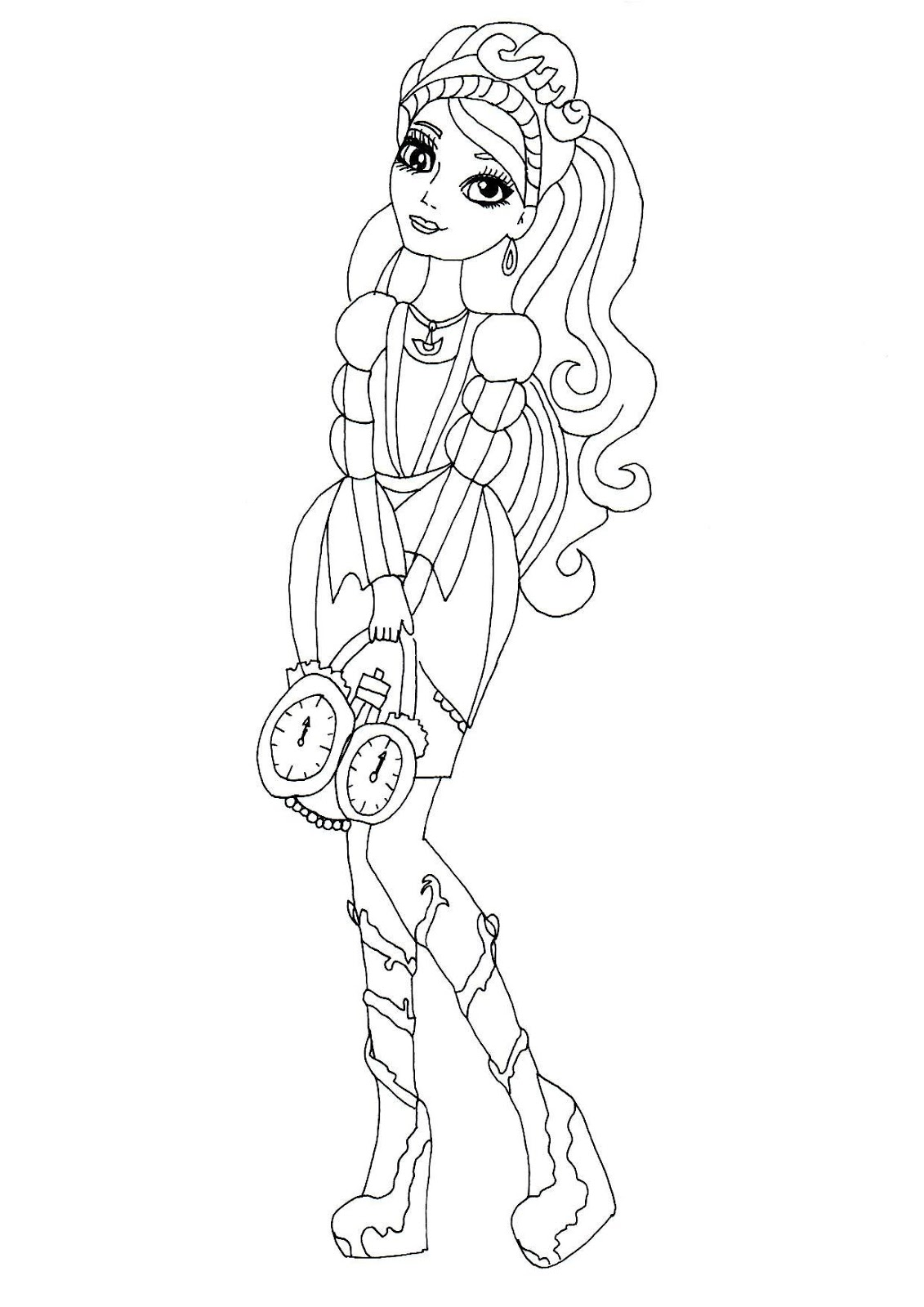 dibujos de ever after high para colorear