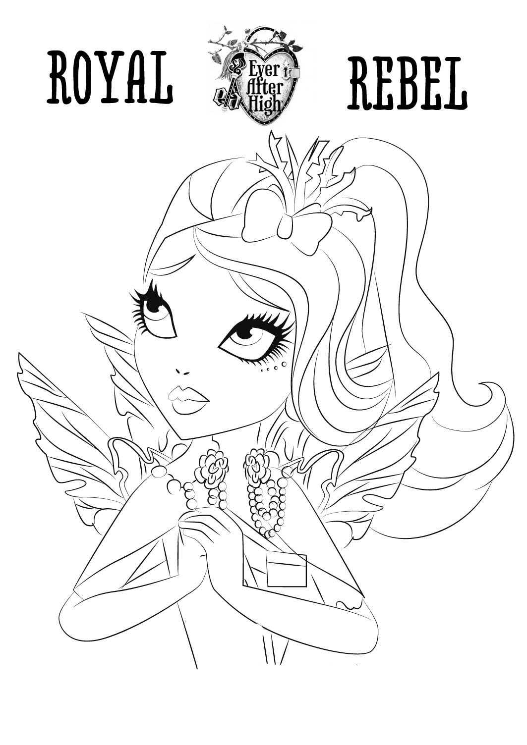 dibujos de ever after high para pintar