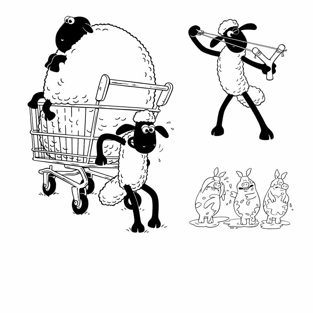 dibujos de la oveja shaun para imprimir