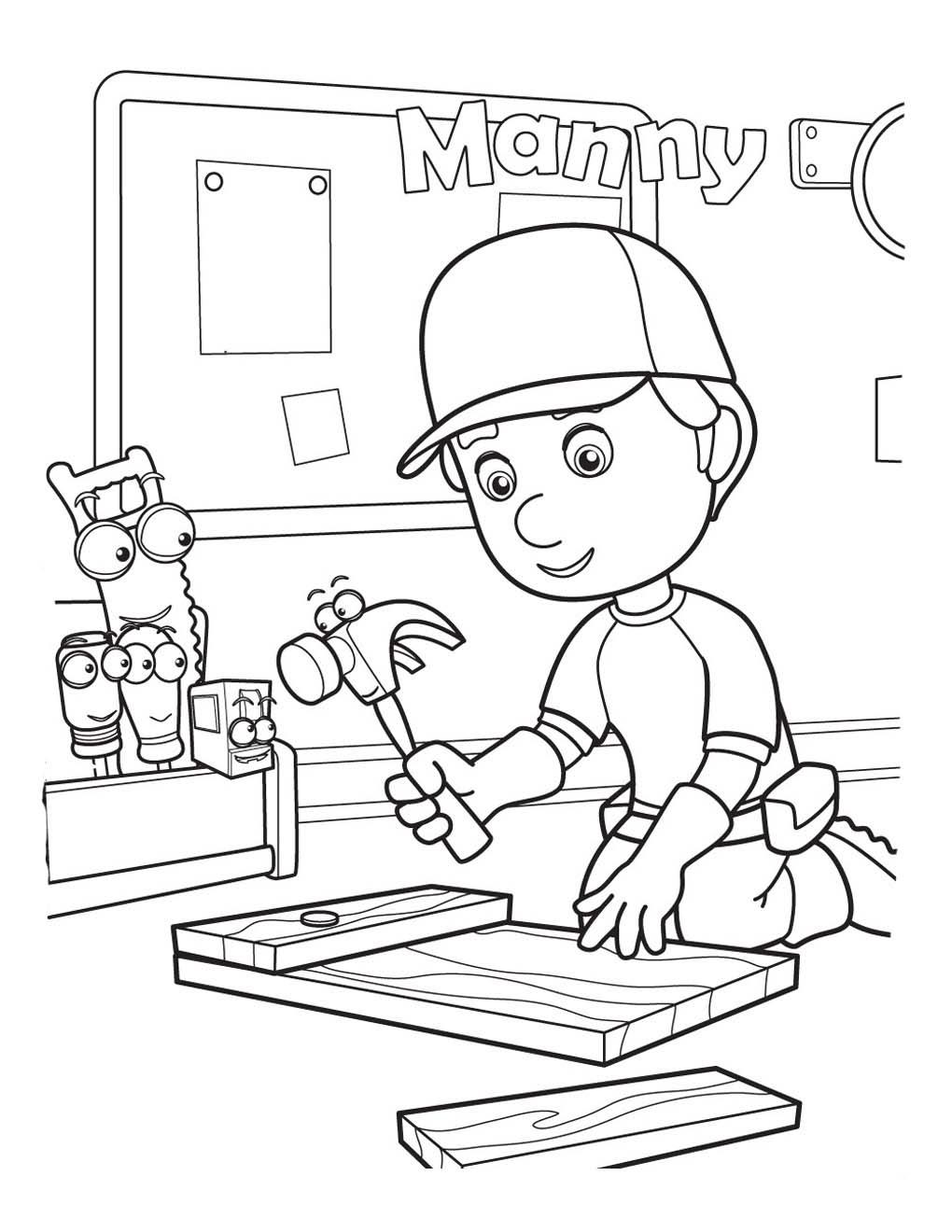 dibujos de manny manitas para pintar