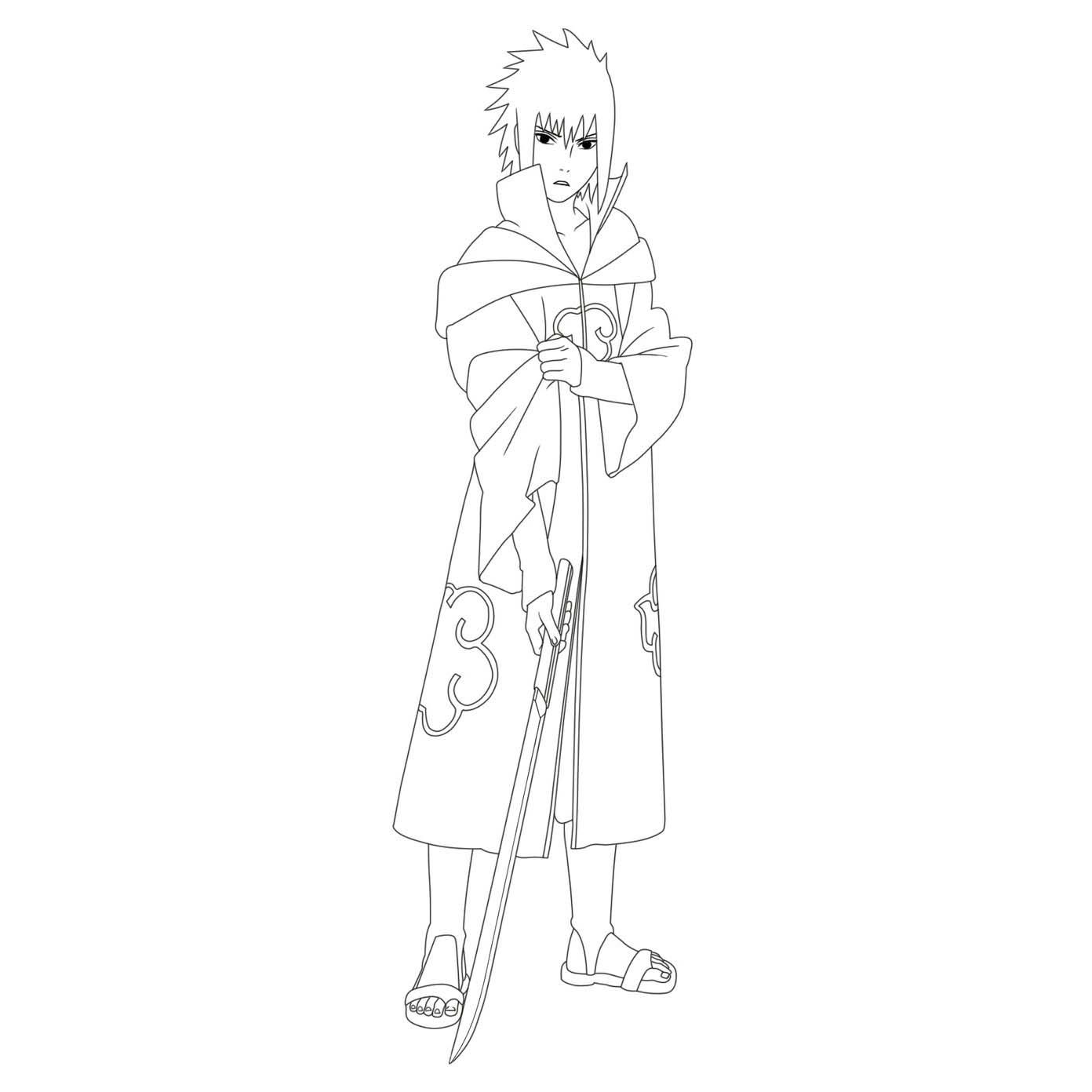 dibujos de sasuke para colorear