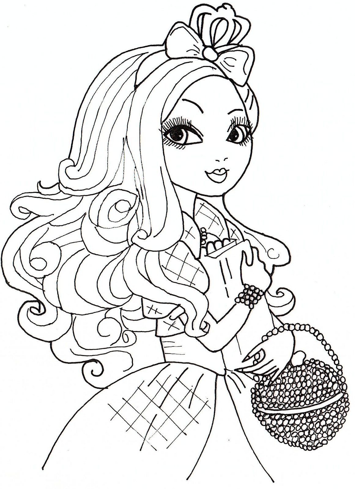 dibujos para colorear de ever after high