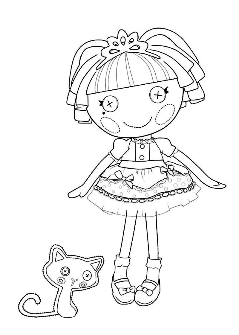 Lalaloopsy coloring pages babies