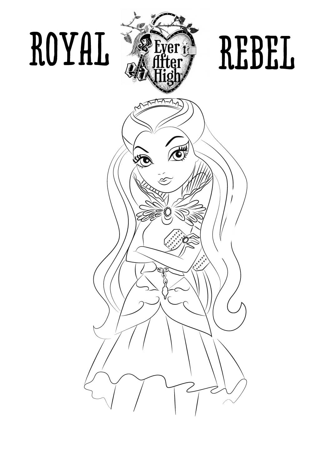 dibujos para imprimir de ever after high