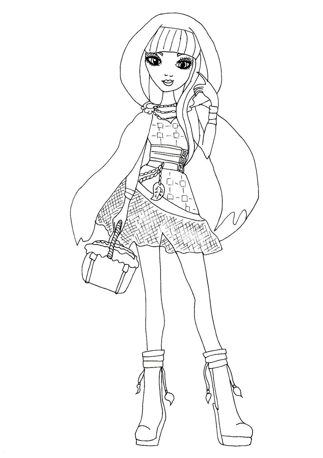 dibujos para pintar de ever after high