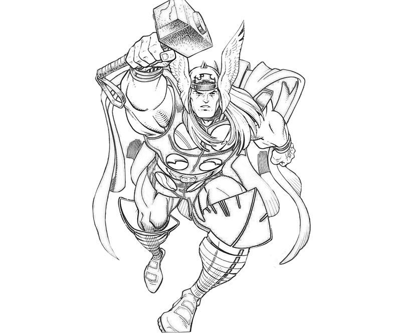 Thor Para Colorear Pintar E Imprimir