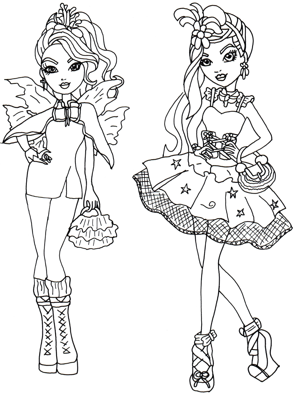 ever after high dibujos para colorear e imprimir