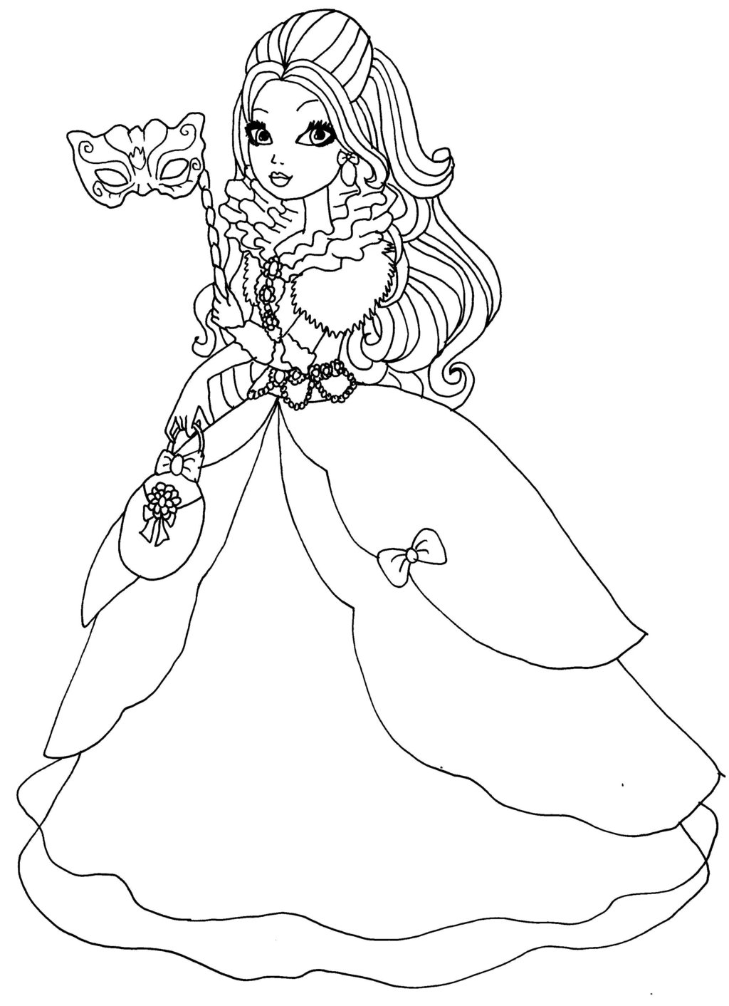 ever after high para colorear
