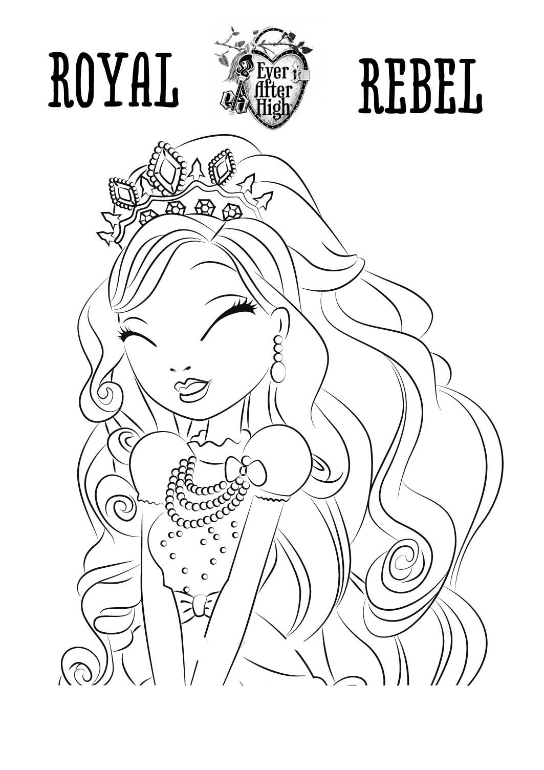 ever after high para pintar