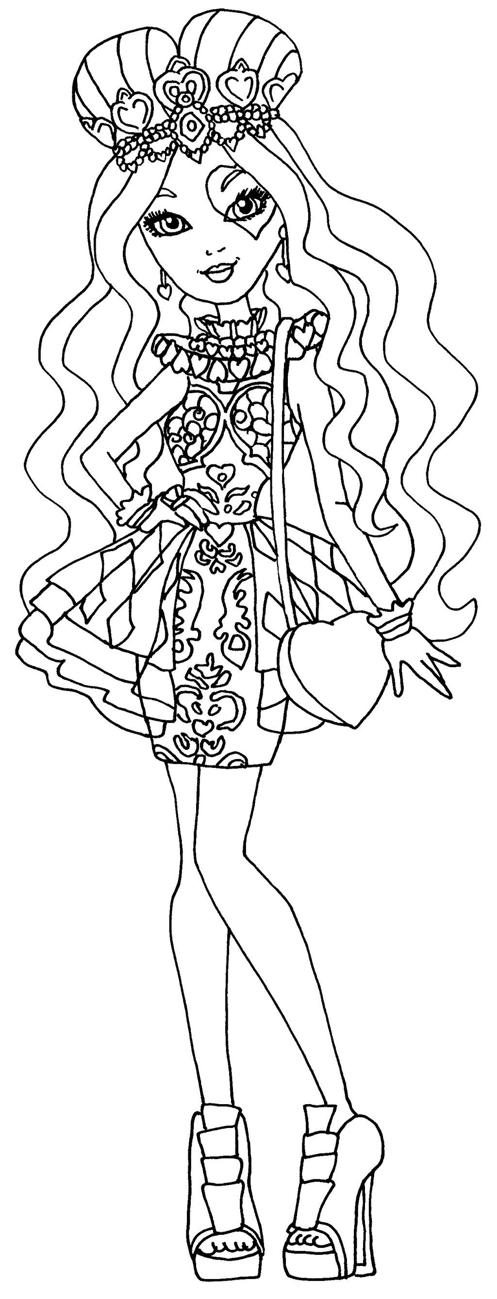 figuras de ever after high para colorear