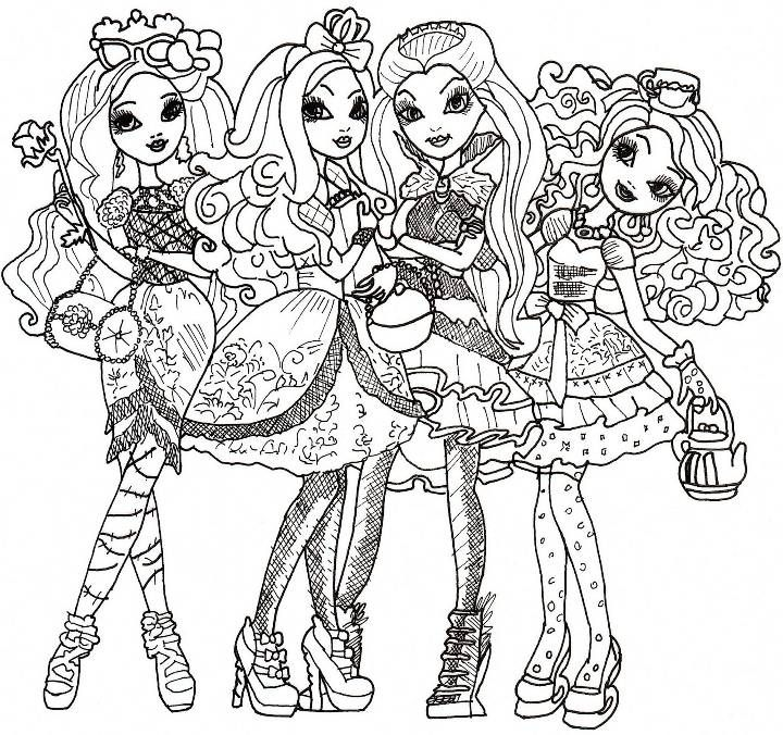 figuras de ever after high para imprimir y pintar