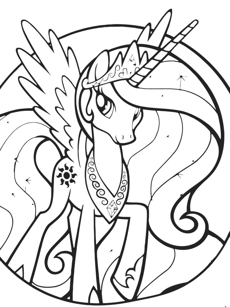 My Little Pony Para Colorear E Imprimir on nightmare trixie