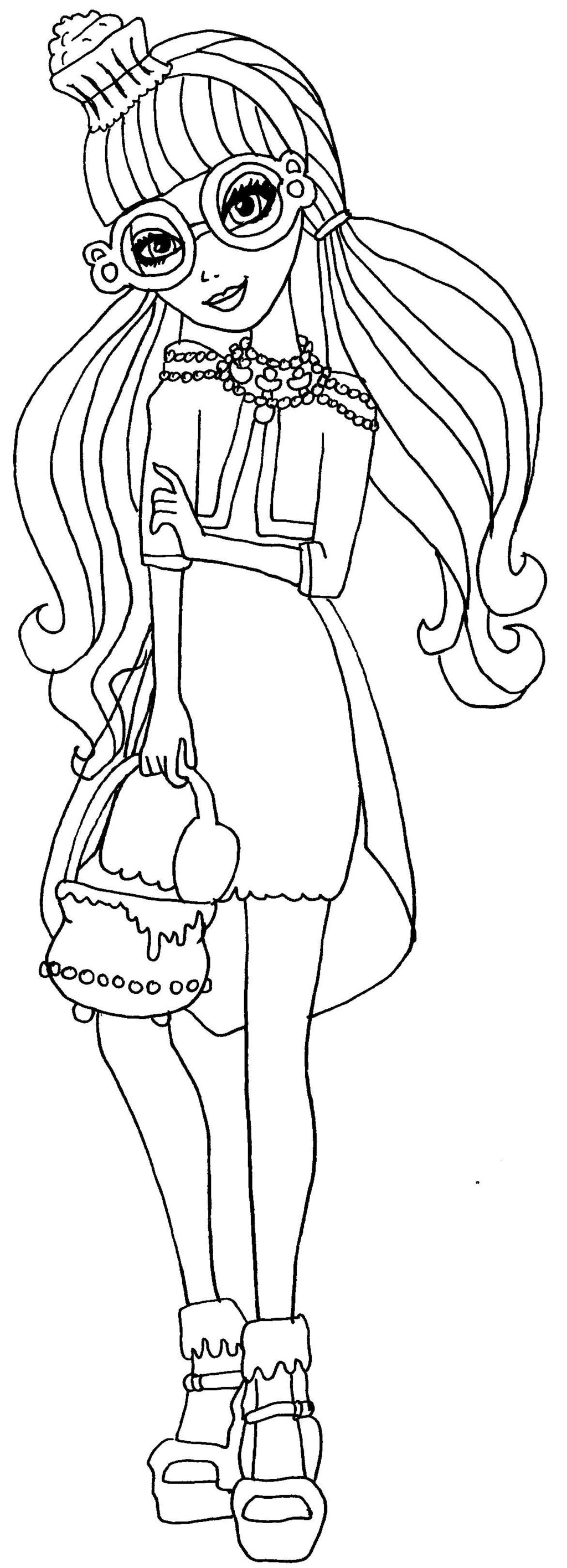 ginger breadhouse ever after high para colorear
