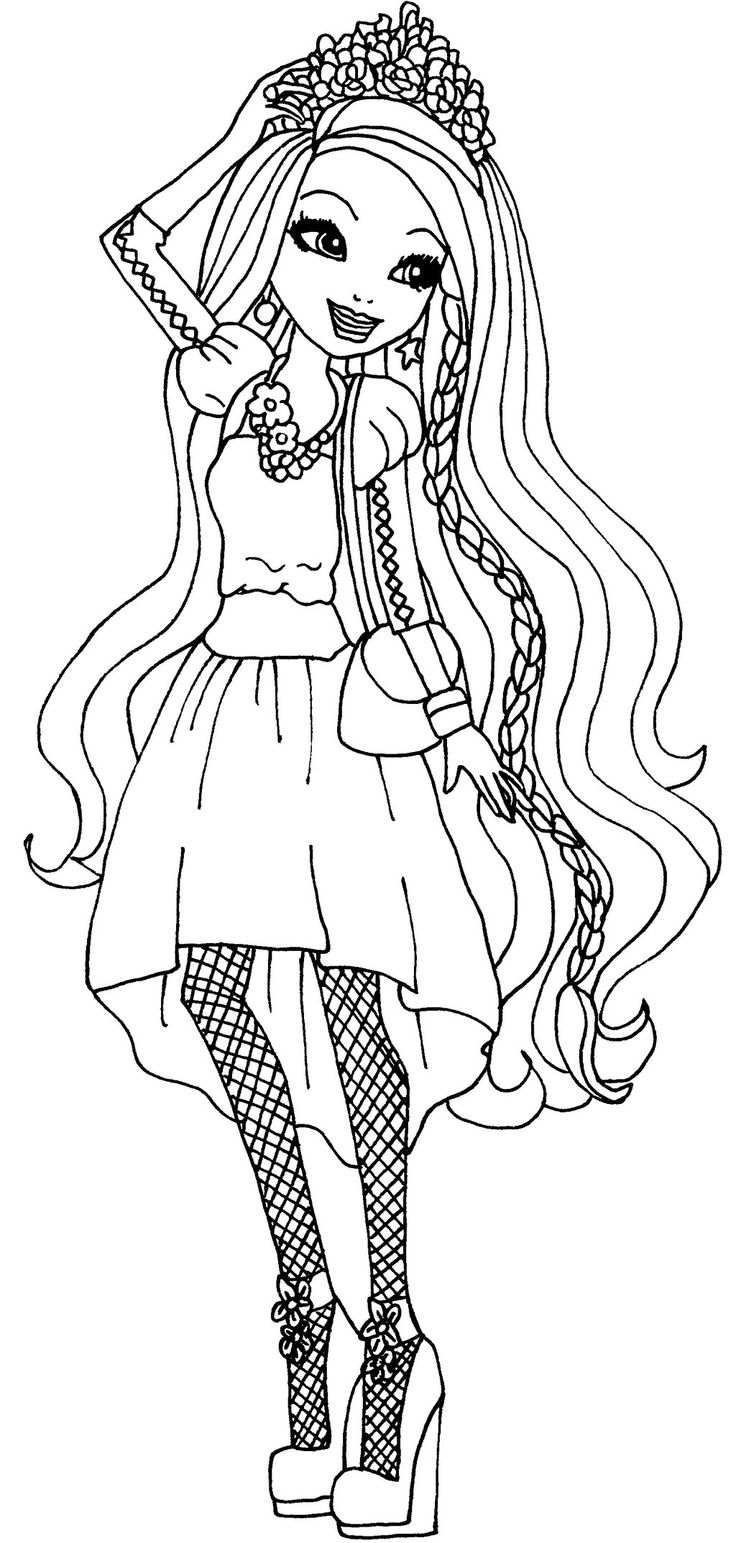 holly o'hair ever after high para colorear
