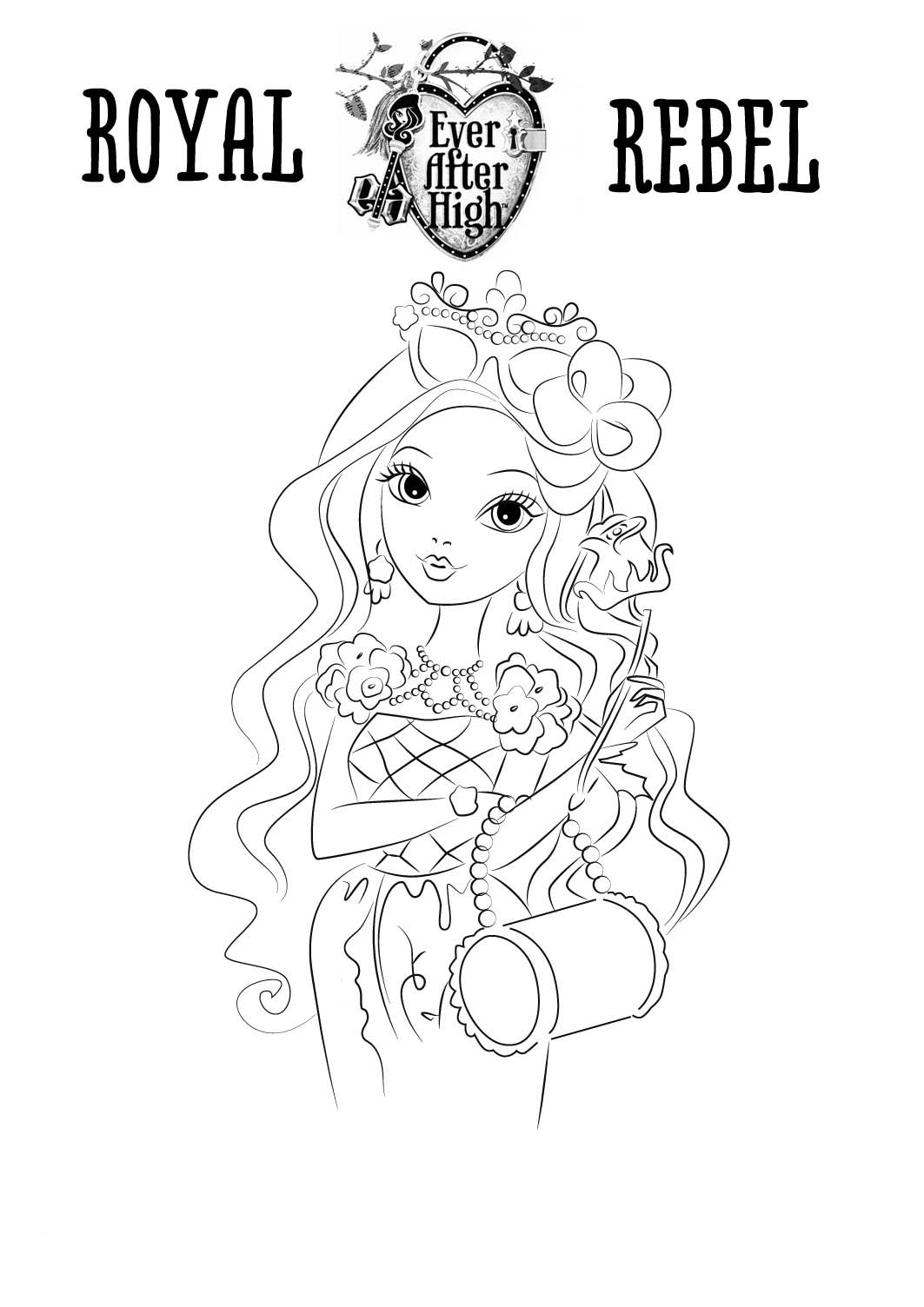 imagenes de ever after high para pintar