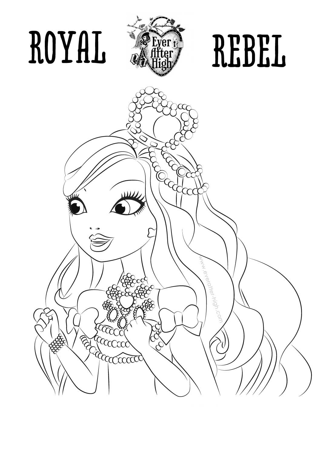imagenes para colorear de ever after high