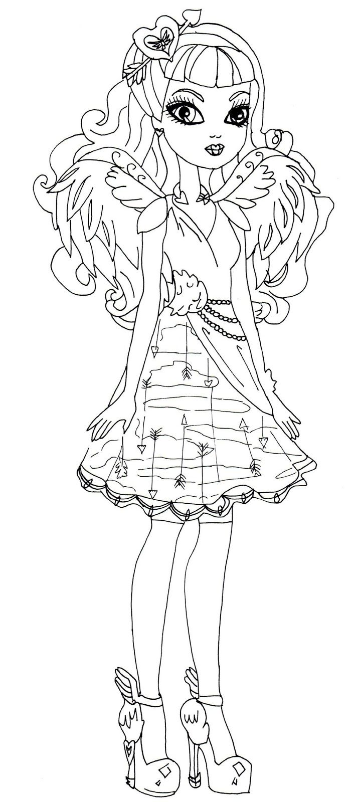 justine dancer ever after high para colorear