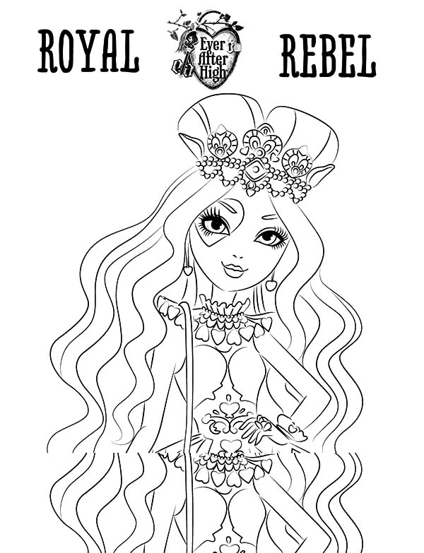 lizzie hearts Ever After High para colorear
