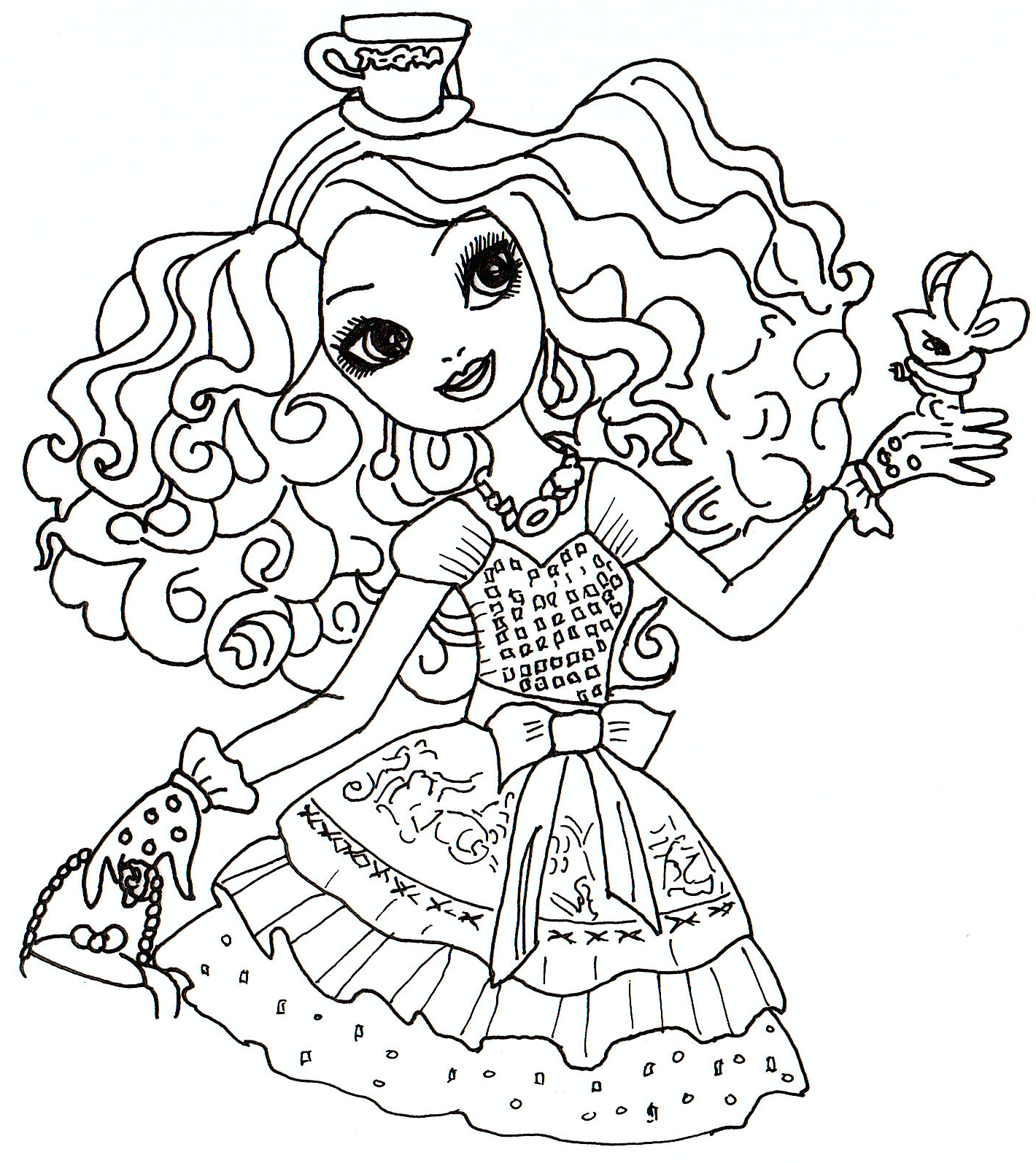madeline hatter ever after high para colorear