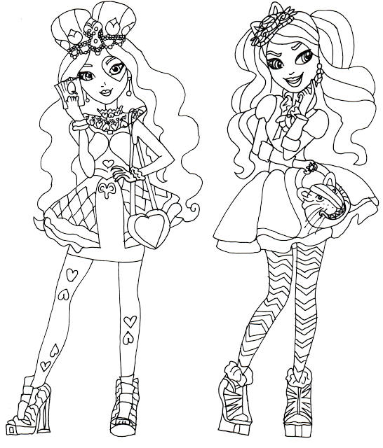 personajes de ever after high para colorear