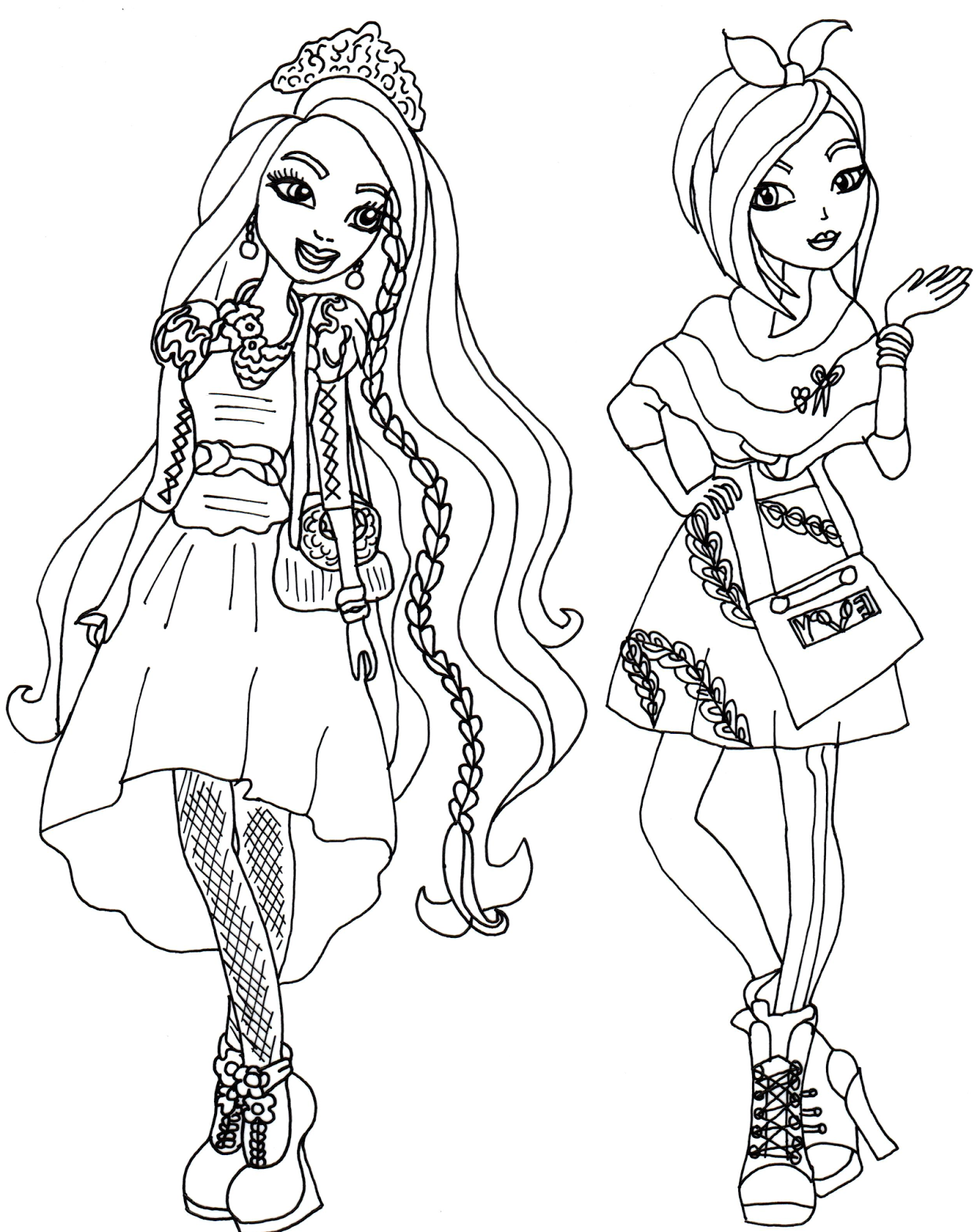 pintar a ever after high