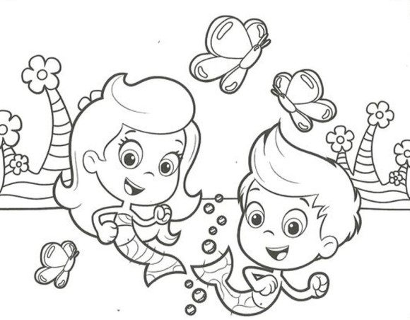 Bubble guppies para colorear pintar e imprimir for Wallykazam coloring pages