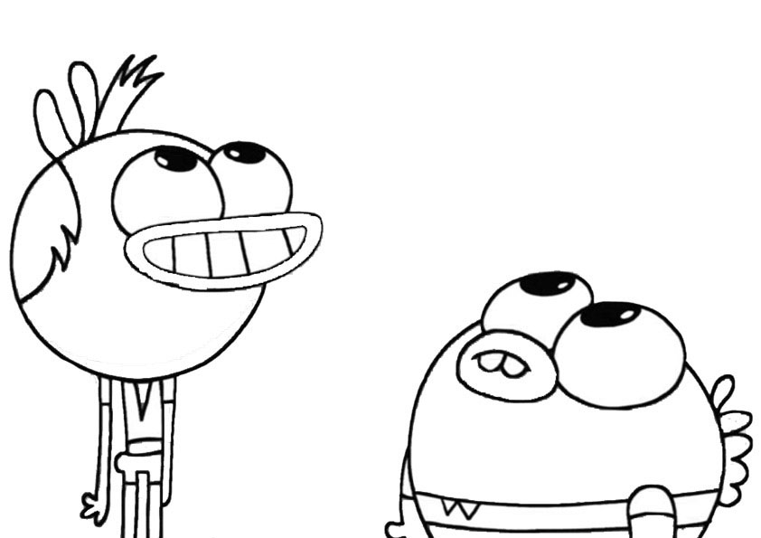 Breadwinners Printable Coloring Pages 3 | 595x842