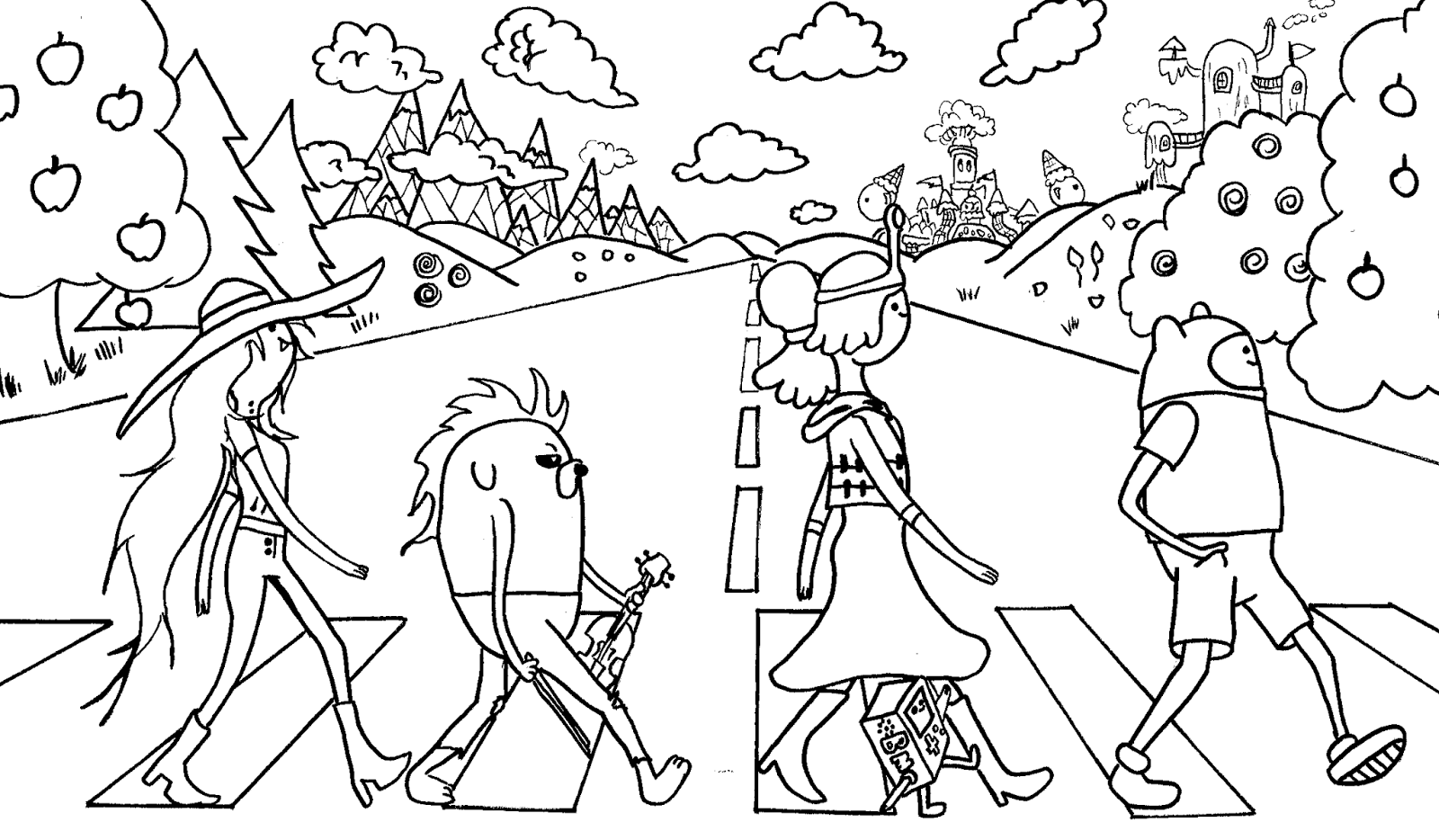 coloring pages of adventure time - photo#33