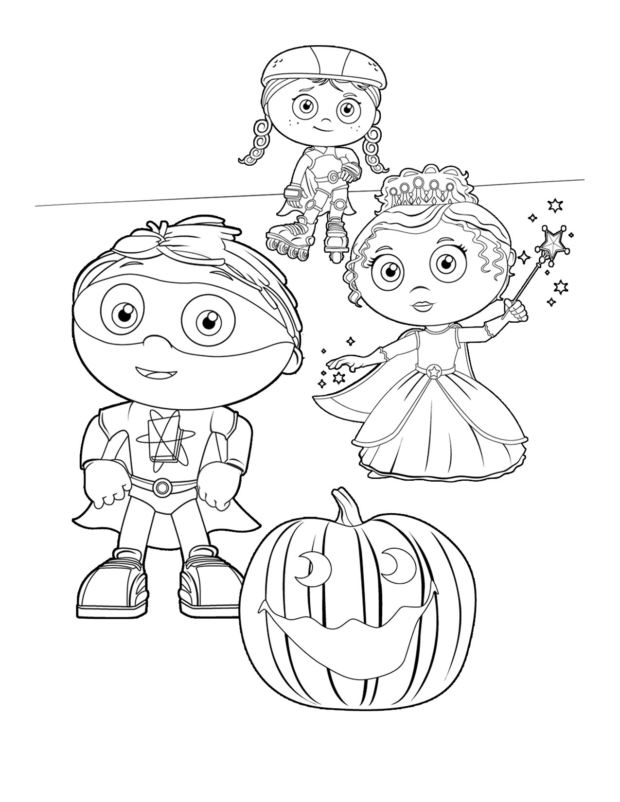 imagenes de super why para colorear