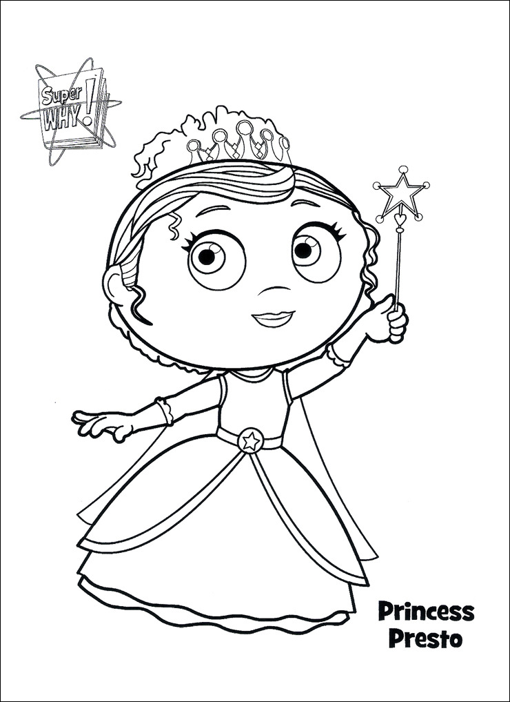 This is a photo of Nerdy Super Why Coloring Book