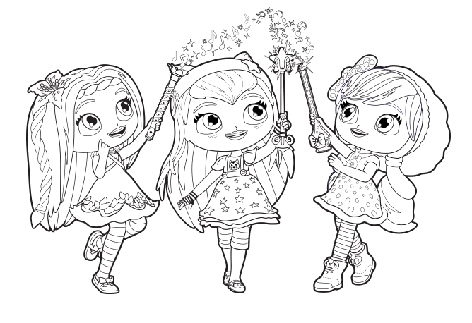 little charmers coloring pages printable - photo#1
