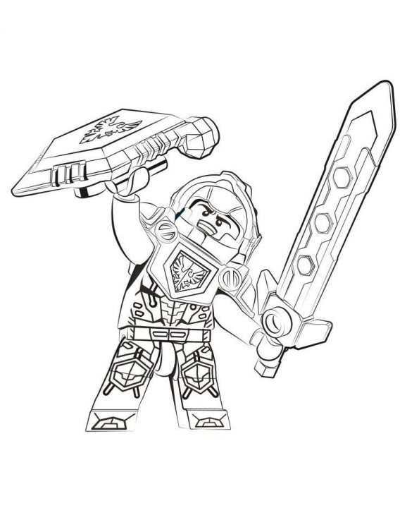 Coloring Pages Nexo Knights : Lego nexo knights para colorear e imprimir