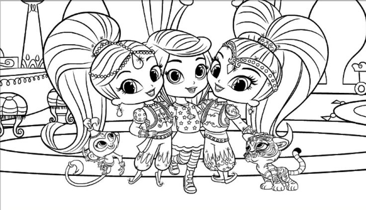 Shimmer y shine para colorear e imprimir for Shimmer and shine da colorare