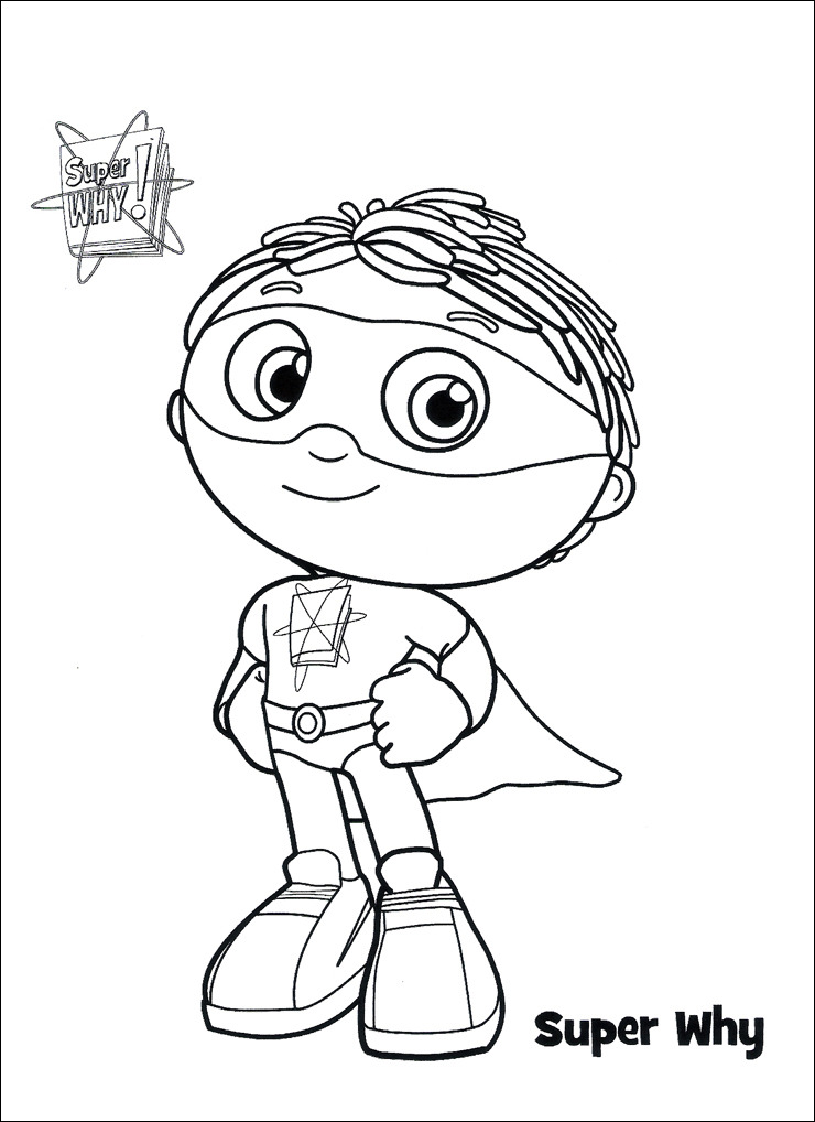 super why para colorear